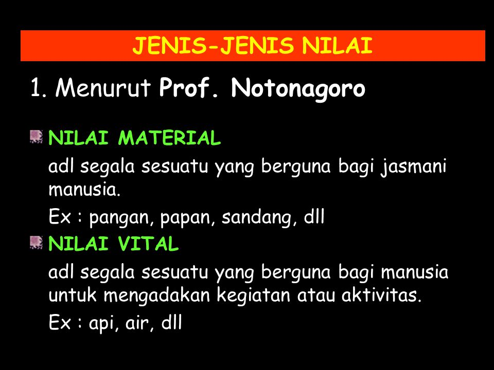 1. Menurut Prof. Notonagoro