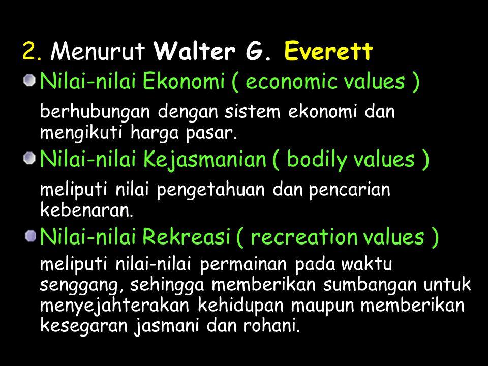 2. Menurut Walter G. Everett