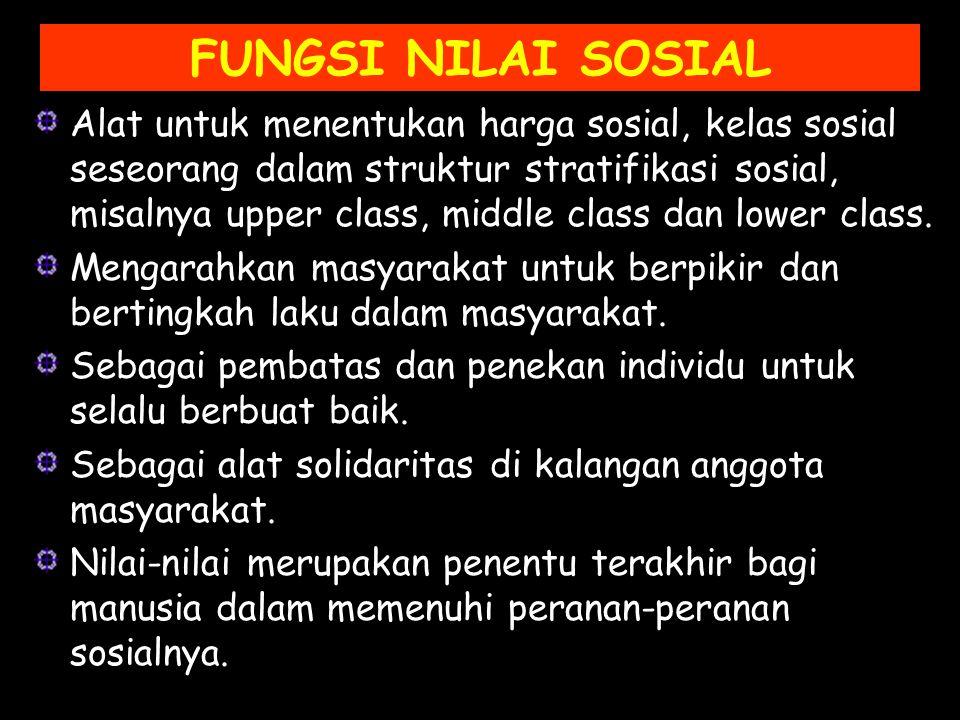 FUNGSI NILAI SOSIAL