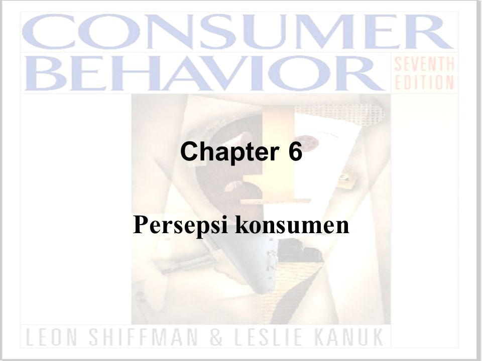 Chapter 6 Persepsi konsumen