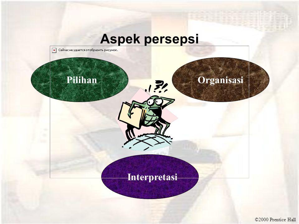 Aspek persepsi Pilihan Organisasi Interpretasi