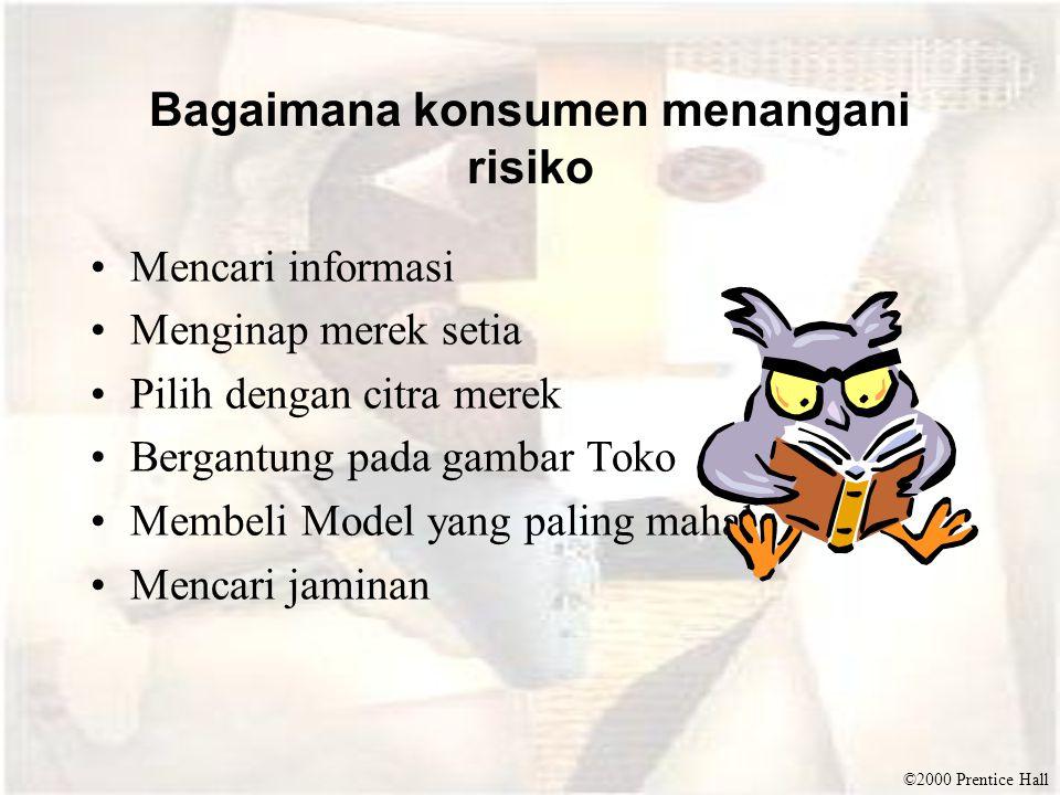 Bagaimana konsumen menangani risiko