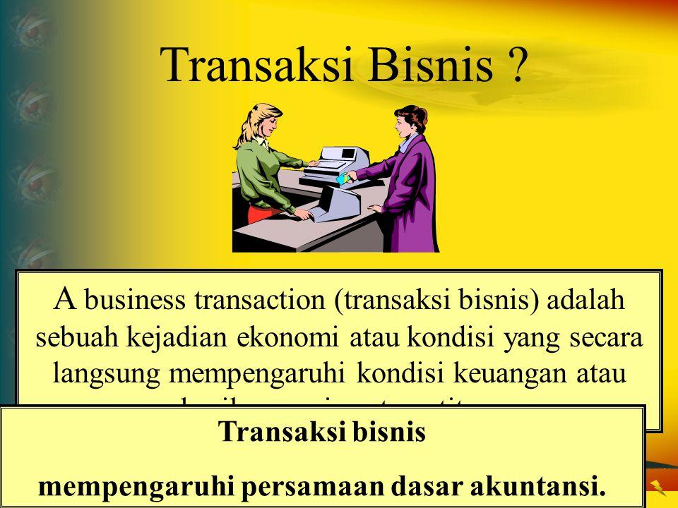 mempengaruhi persamaan dasar akuntansi.
