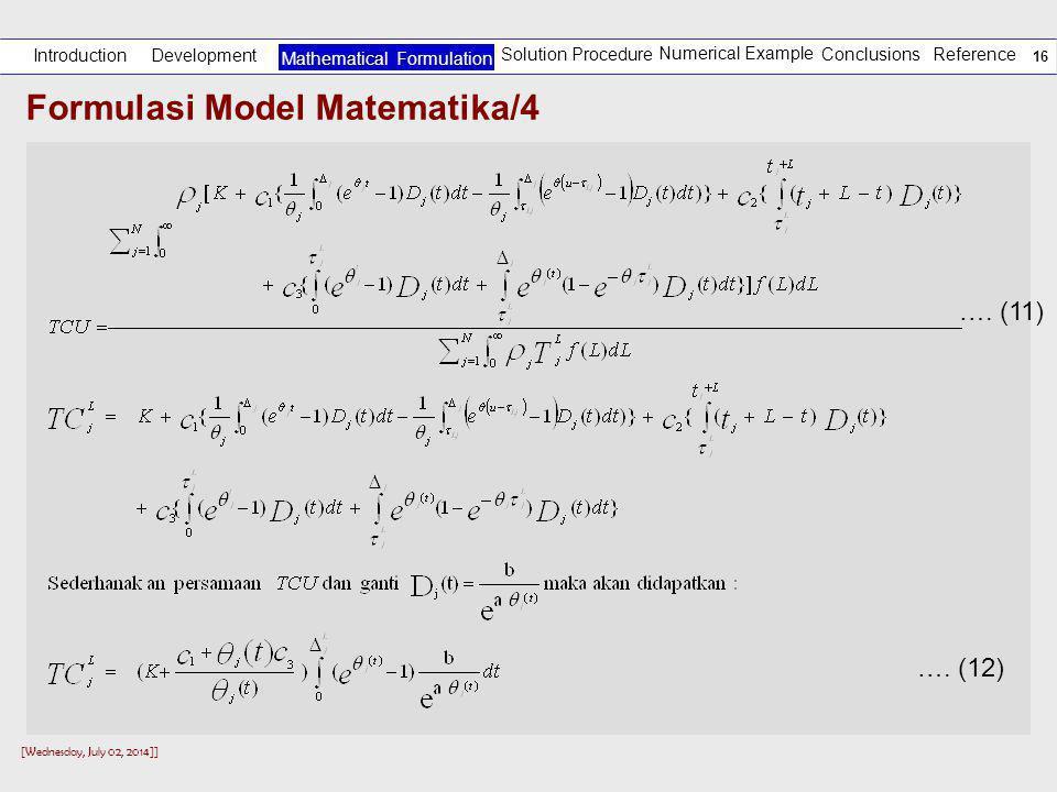Formulasi Model Matematika/4