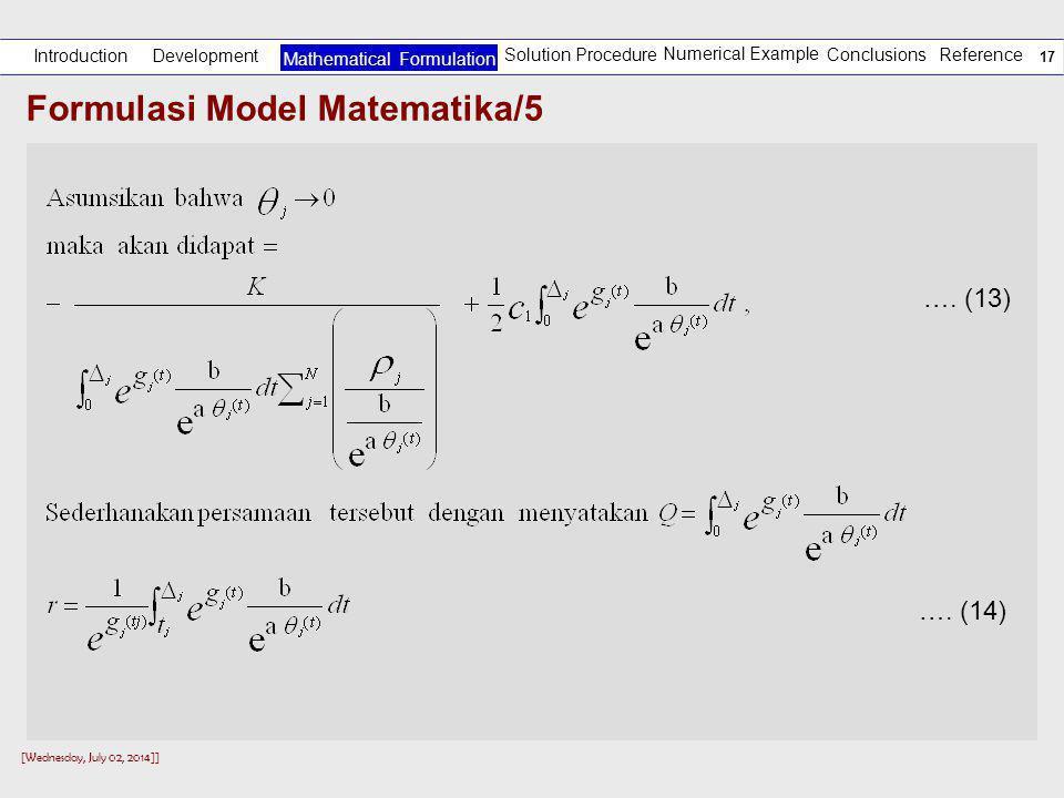 Formulasi Model Matematika/5