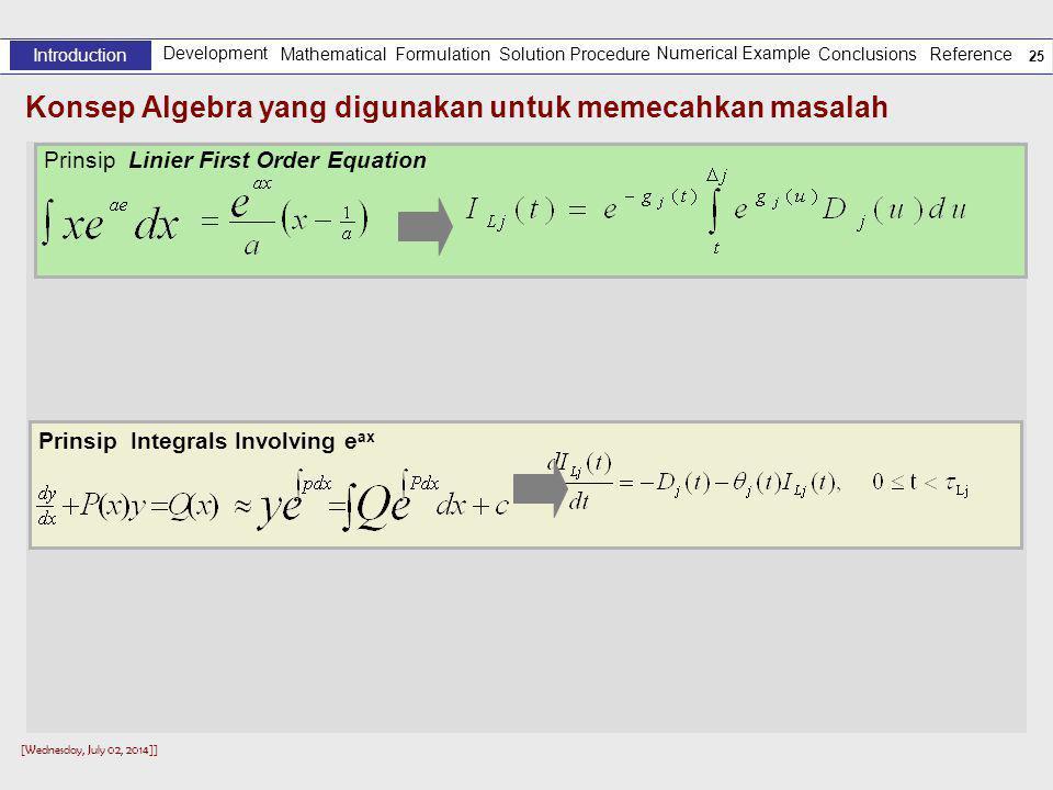 Konsep Algebra yang digunakan untuk memecahkan masalah