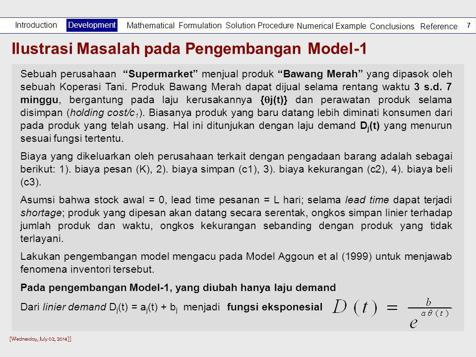 Ilustrasi Masalah pada Pengembangan Model-1