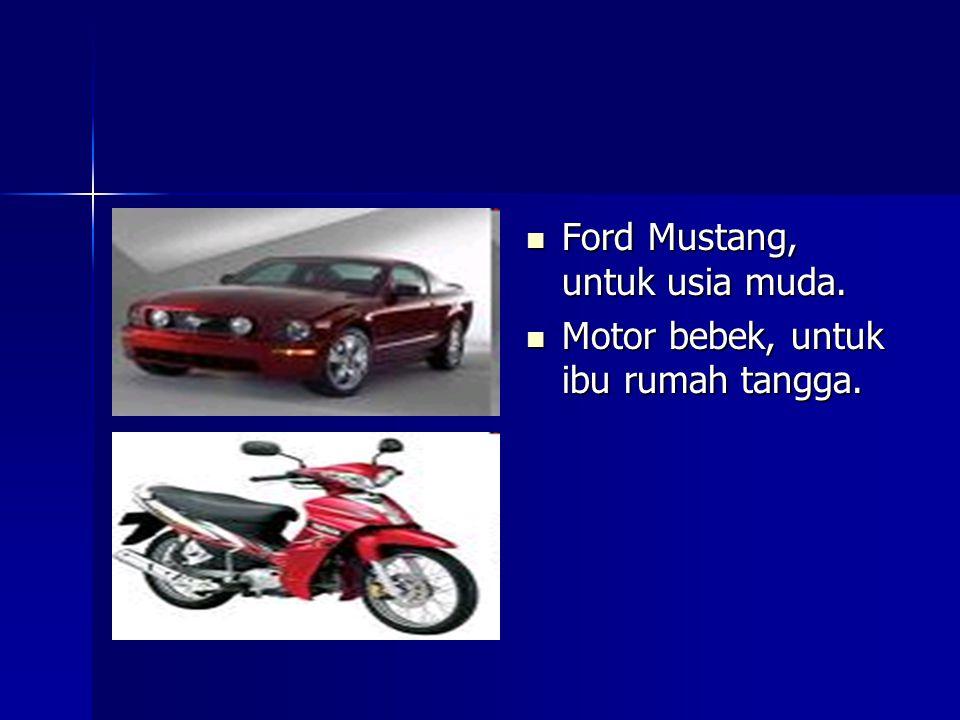 Ford Mustang, untuk usia muda.