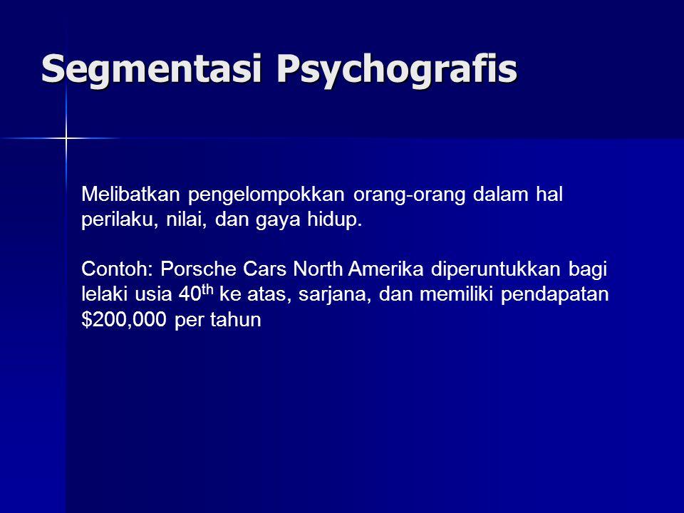 Segmentasi Psychografis