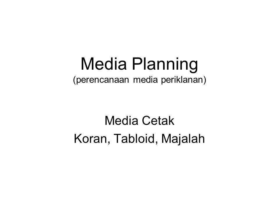 Media Planning (perencanaan media periklanan)