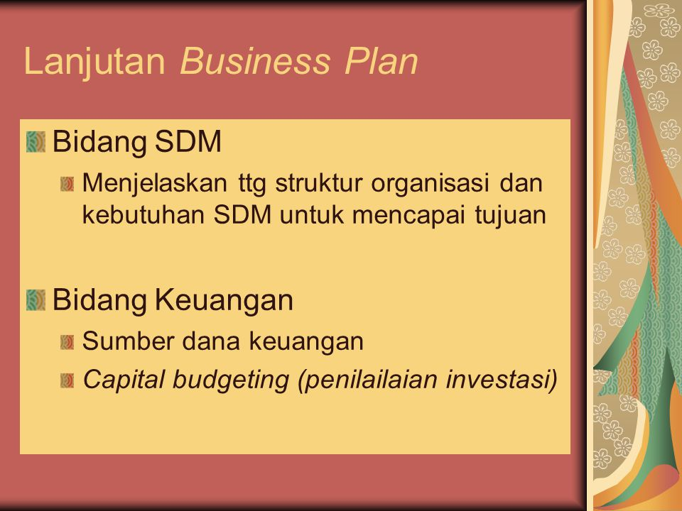 Lanjutan Business Plan