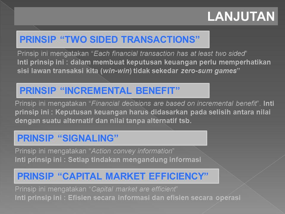 LANJUTAN PRINSIP TWO SIDED TRANSACTIONS