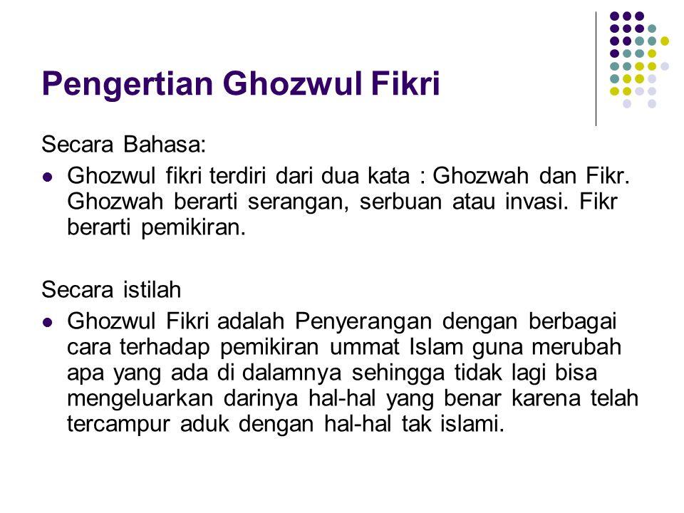 Pengertian Ghozwul Fikri