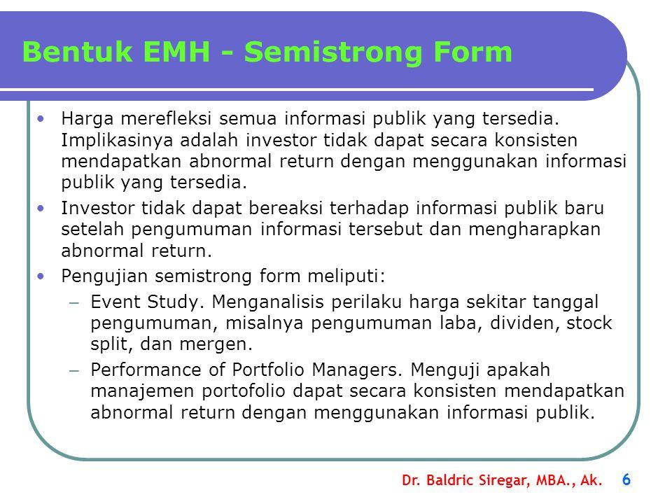 Bentuk EMH - Semistrong Form
