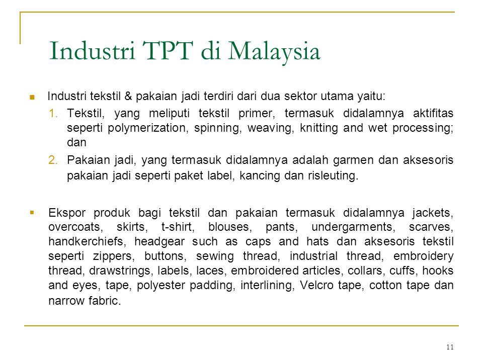 Industri TPT di Malaysia