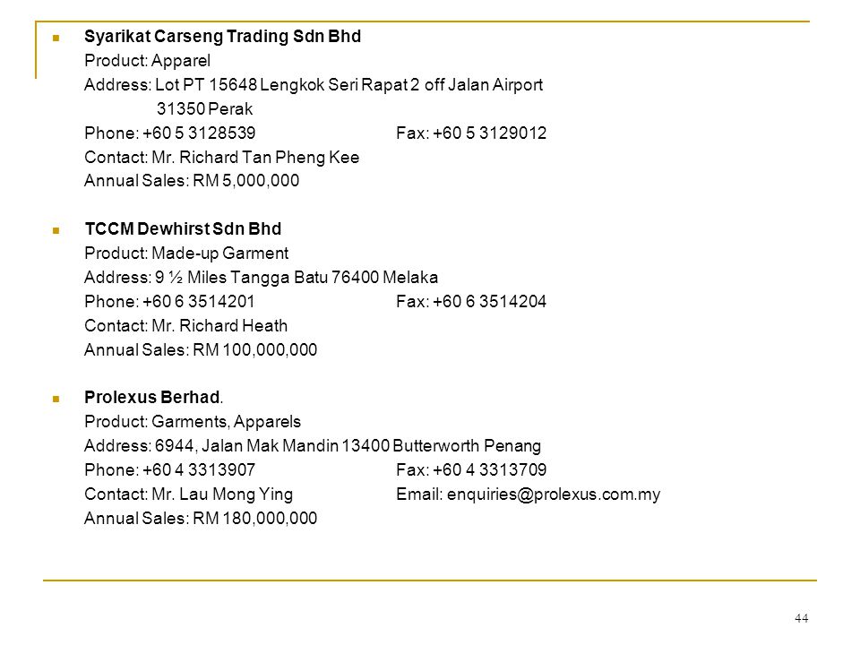 Syarikat Carseng Trading Sdn Bhd