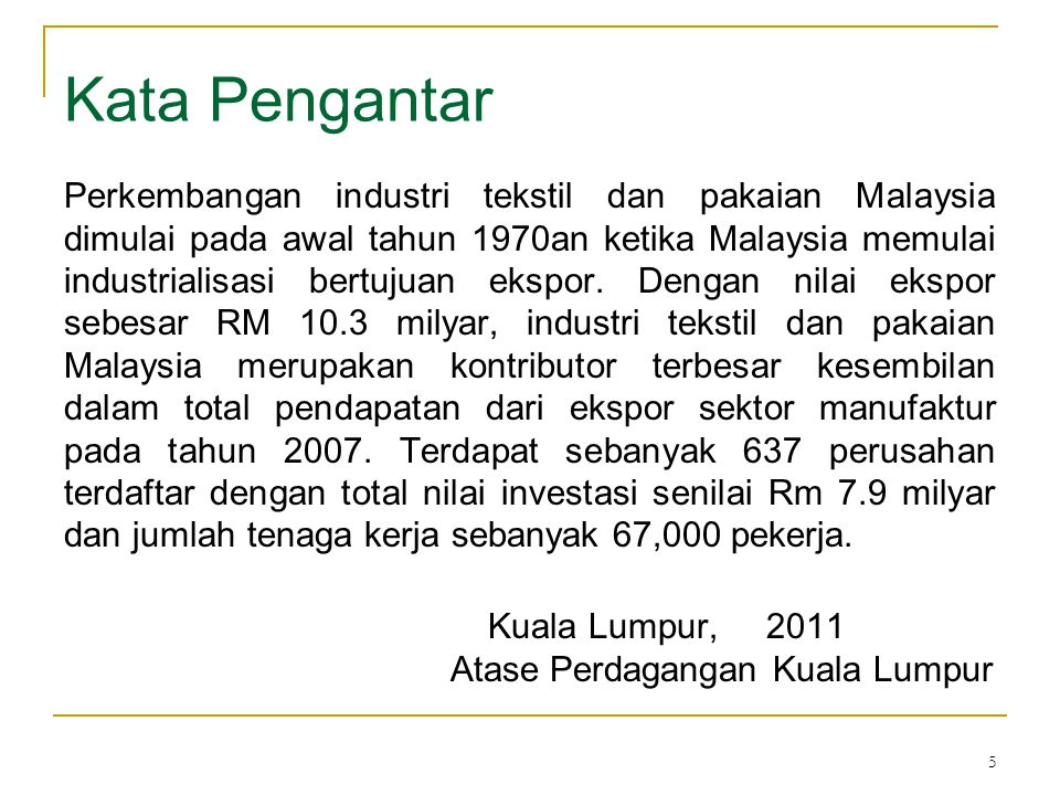 Kata Pengantar Kuala Lumpur, 2011