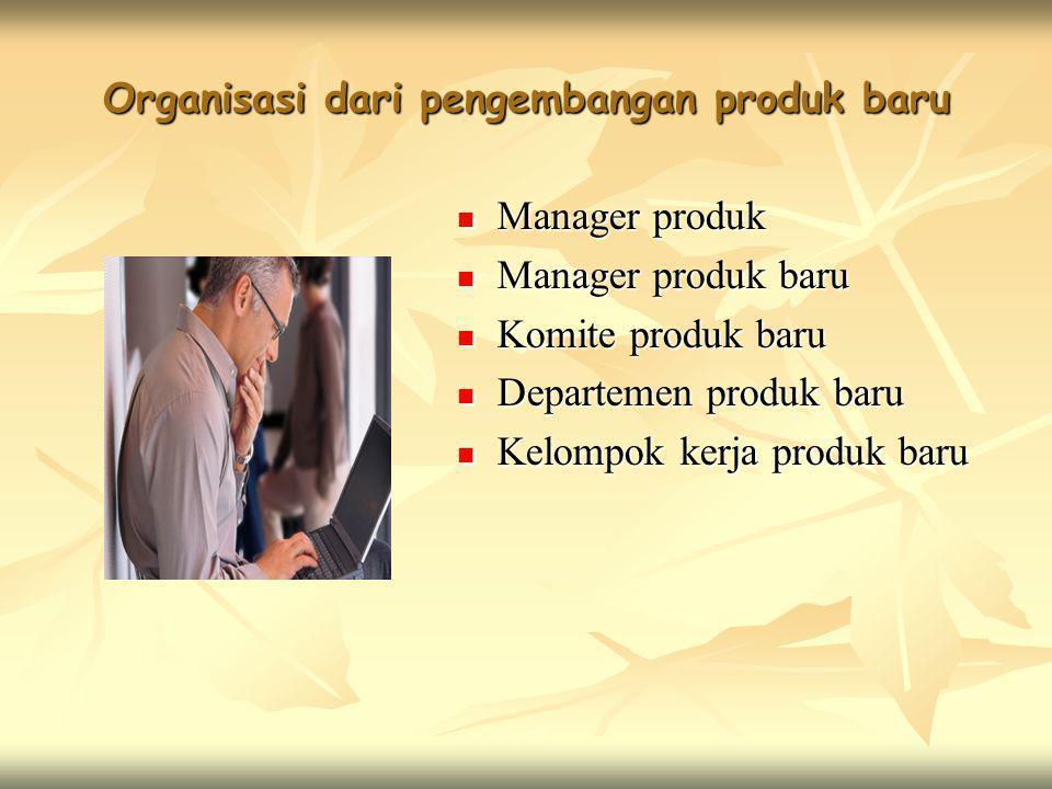 Organisasi dari pengembangan produk baru