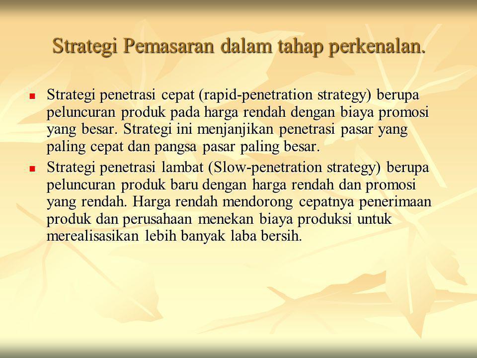 Strategi Pemasaran dalam tahap perkenalan.