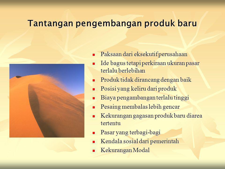 Tantangan pengembangan produk baru