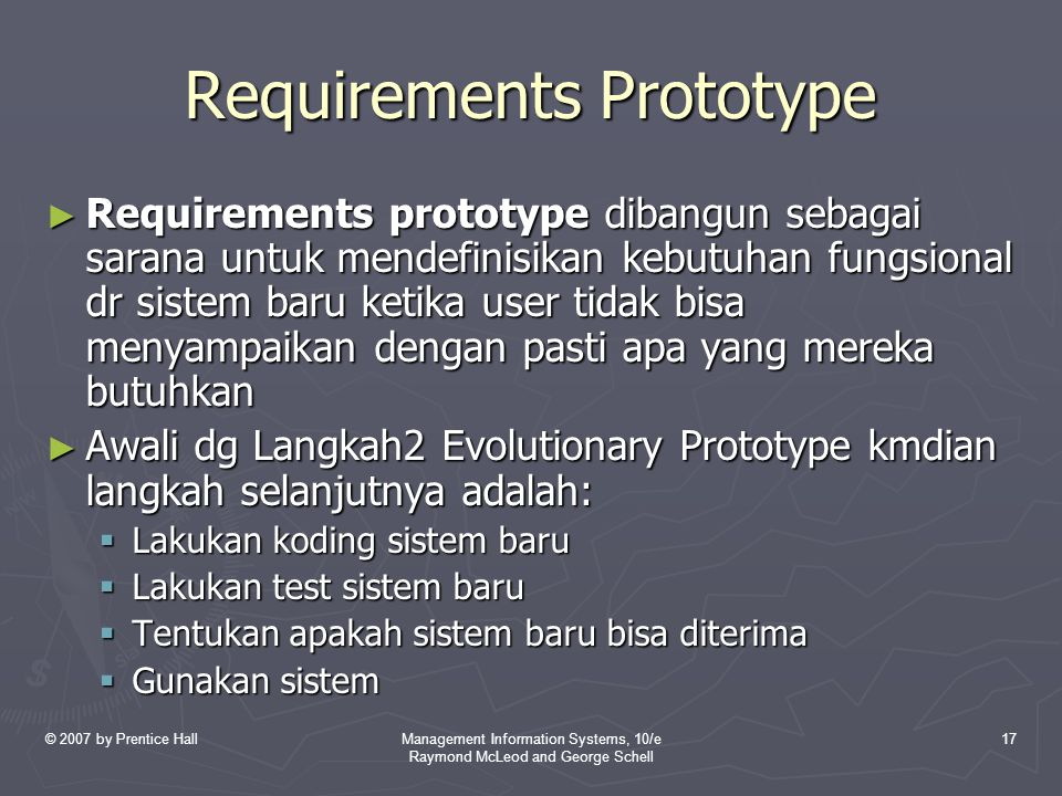 Requirements Prototype