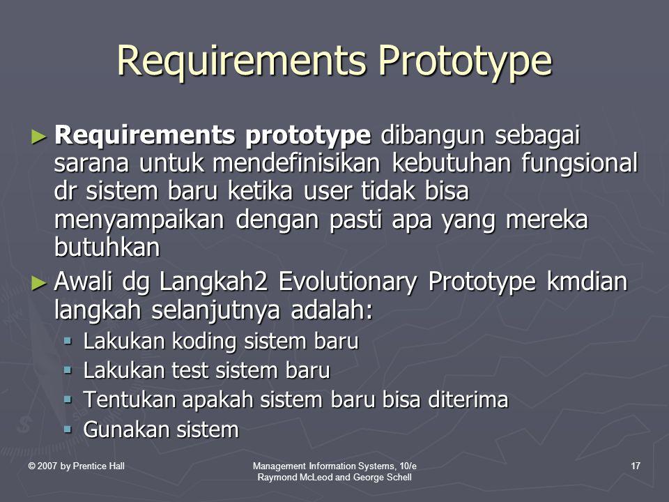 Requirements Prototype