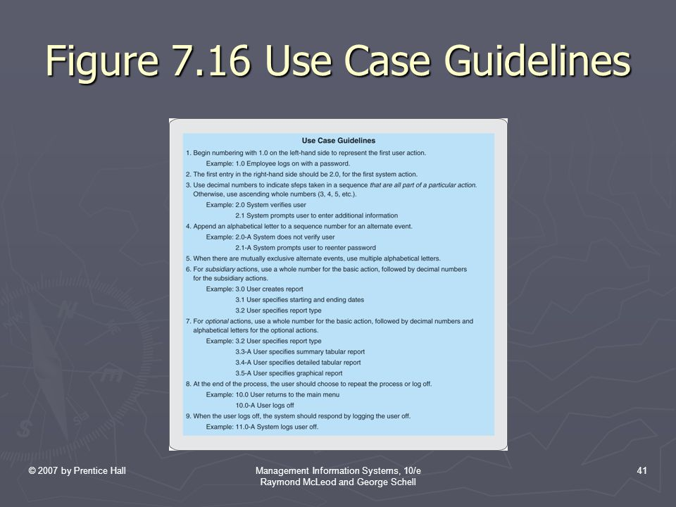 Figure 7.16 Use Case Guidelines
