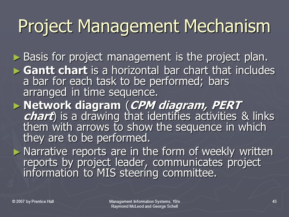 Project Management Mechanism