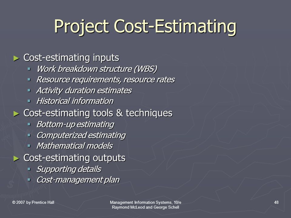 Project Cost-Estimating