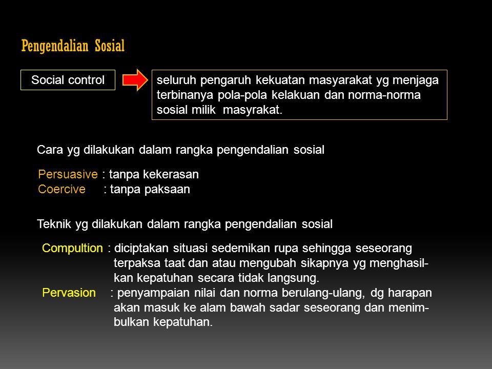 Pengendalian Sosial Social control