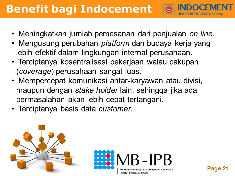 Benefit bagi Indocement