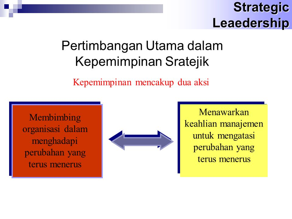 Pertimbangan Utama dalam Kepemimpinan Sratejik
