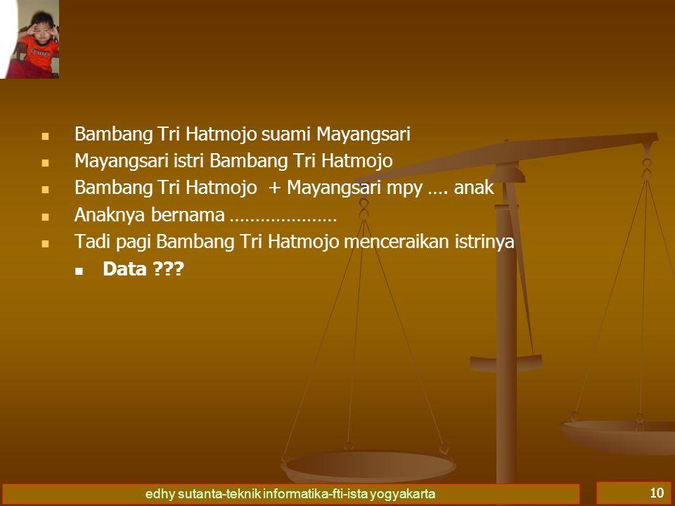 Bambang Tri Hatmojo suami Mayangsari