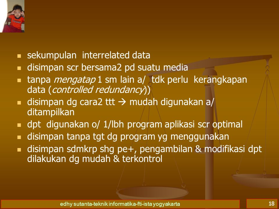 sekumpulan interrelated data