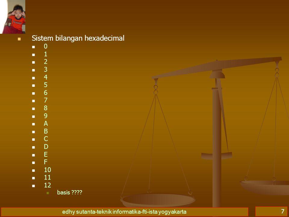 Sistem bilangan hexadecimal