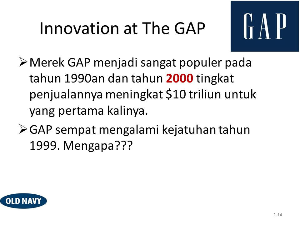 Innovation at The GAP