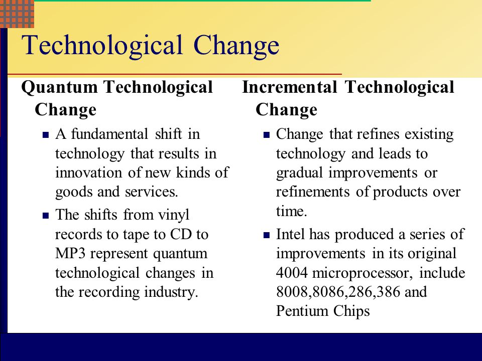 Technological Change Quantum Technological Change