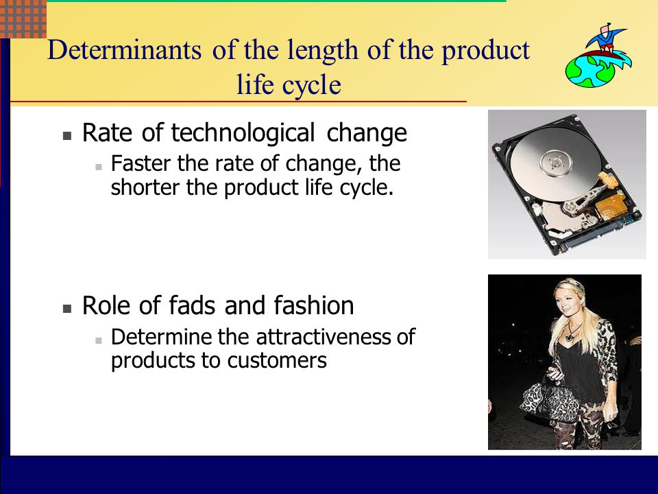 Determinants of the length of the product life cycle
