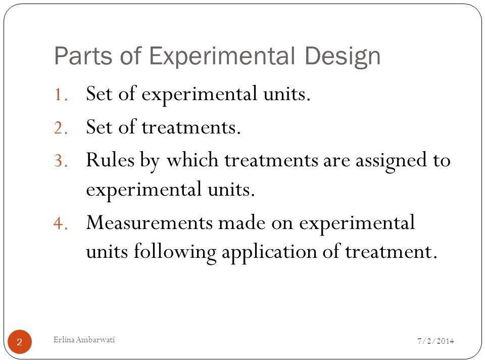 Parts of Experimental Design
