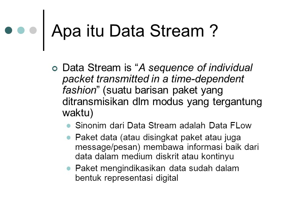 Apa itu Data Stream