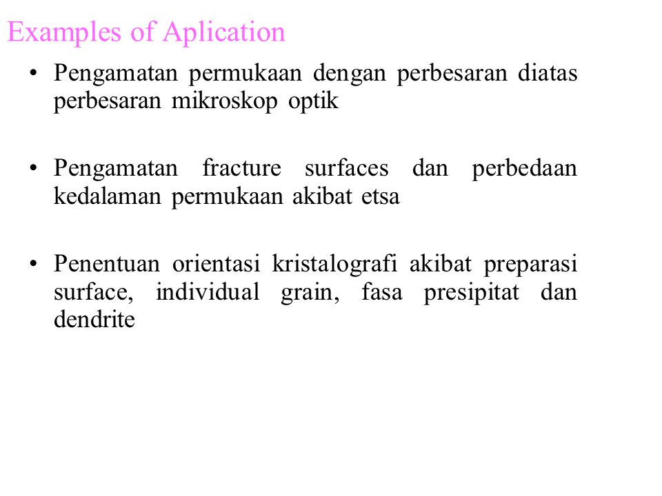 Examples of Aplication