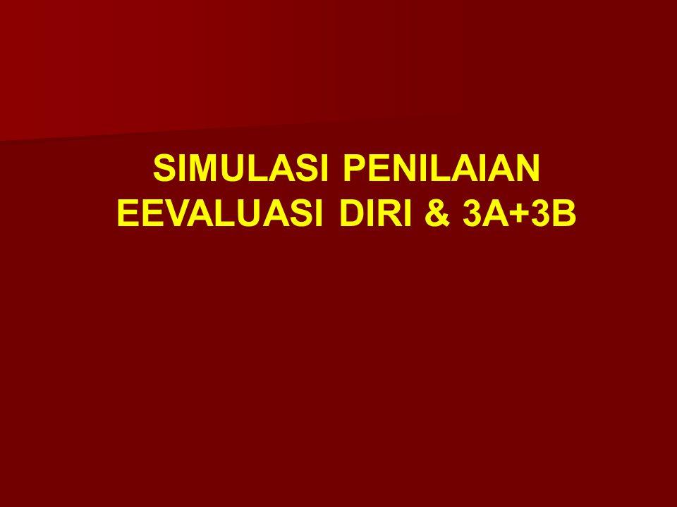 SIMULASI PENILAIAN EEVALUASI DIRI & 3A+3B
