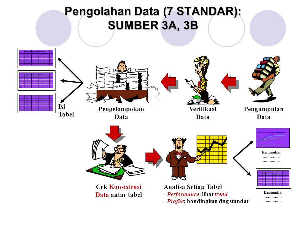 Pengolahan Data (7 STANDAR): SUMBER 3A, 3B
