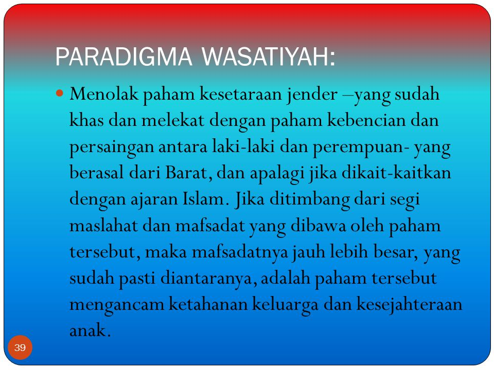 PARADIGMA WASATIYAH: