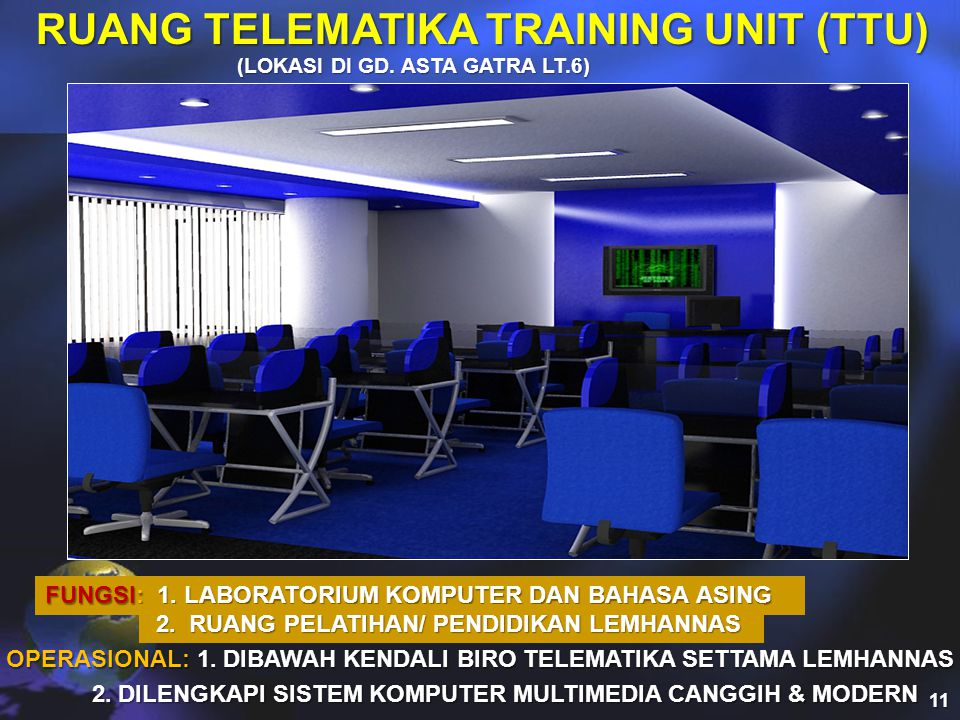 RUANG TELEMATIKA TRAINING UNIT (TTU)