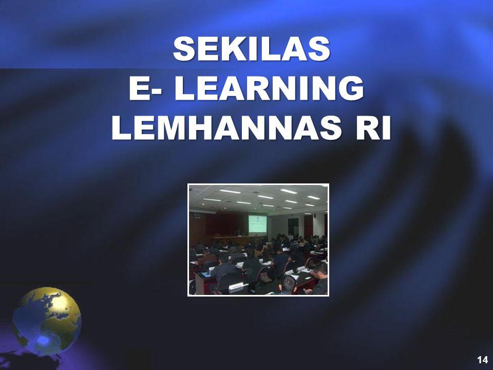 SEKILAS E- LEARNING LEMHANNAS RI