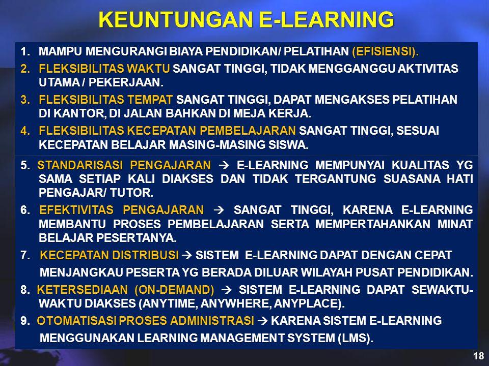 KEUNTUNGAN E-LEARNING