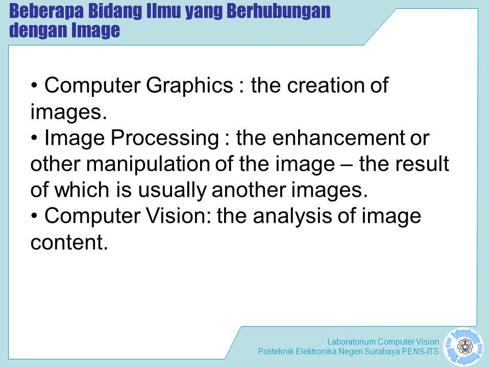 Beberapa Bidang Ilmu yang Berhubungan dengan Image