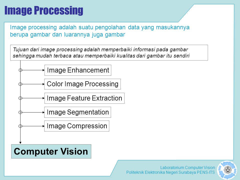 Image Processing Computer Vision Image Enhancement