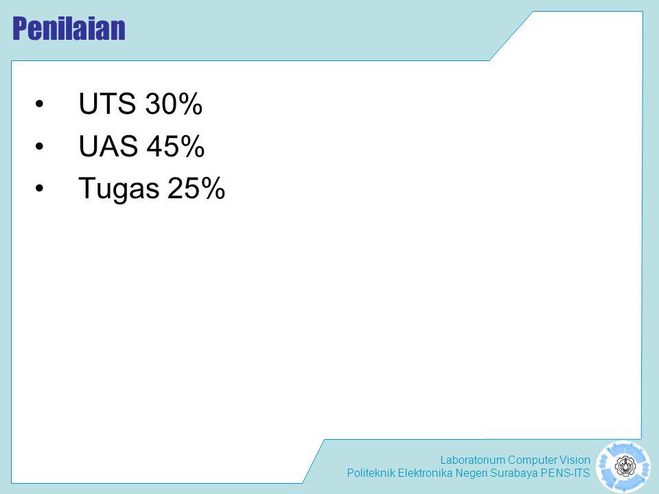 Penilaian UTS 30% UAS 45% Tugas 25%